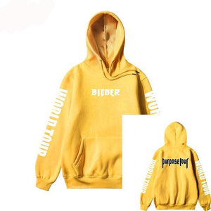 2017 Justin Bieber Purpose Tour Print Hoodie Men Hip hop Streetwear Fleece Cotton Pullover WORLD TOUR Special Women Sweatshirt-novahe