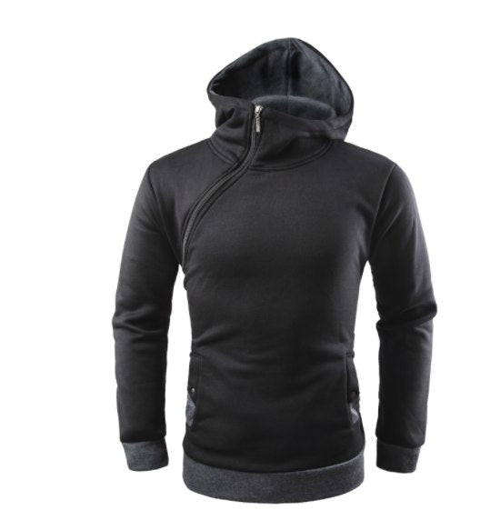 Brand 2018 Hoodie Oblique Zipper Solid Hoodies Men Fashion Tracksuit Male Sweatshirt Hoody Mens Purpose Tour XXXL-novahe