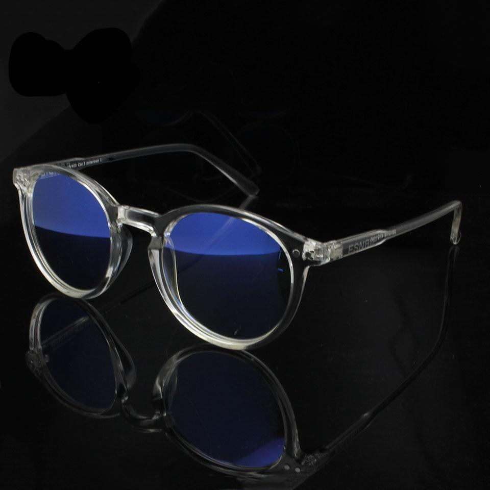 95ab5f2471c73 ESNBIE Mens Vintage Round Glasses Frames Anti Blue Ray Computers Glasses  Women Transparent Glasses Oculos De