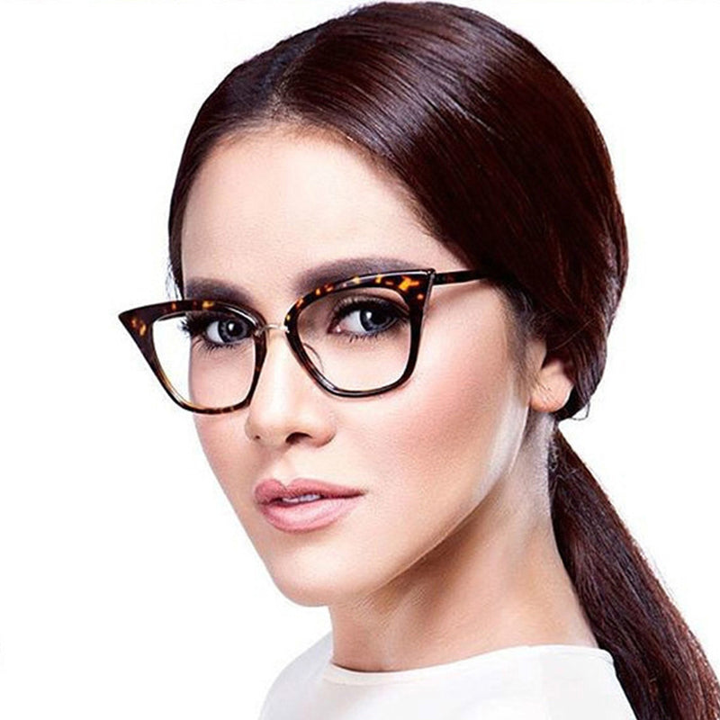 BUKE Women Cat eye Eyewear Frames Amber Brand Designer Computer Glasses Frames Cat eye Glasses Oculos Glasses Frames-novahe
