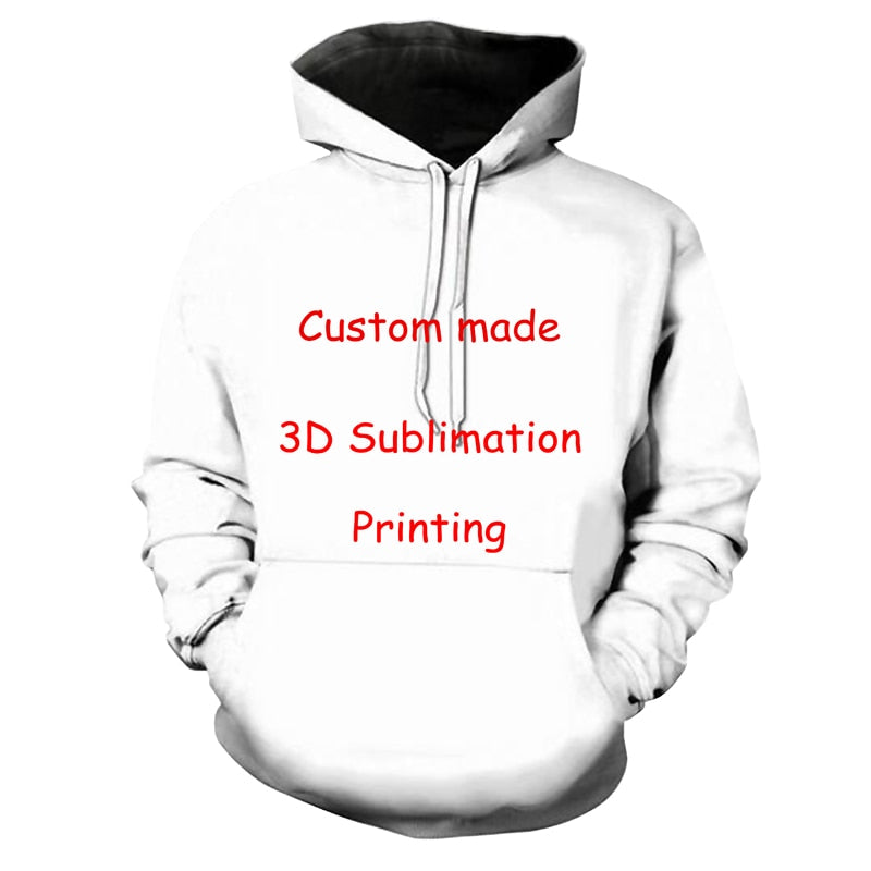 Newest Create Your Own Customer Design Anime/Photo/Star/You Want/Singer Pattern/DIY hoody 3D Print Sublimation hoodies-novahe