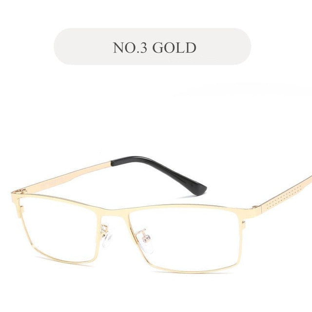 UVLAIK Fashion Bussiness Glasses Frame Men Metal Anti Blue Rays Computer Eyeglasses Goggles Radiation resistant Optical Eyewear-novahe
