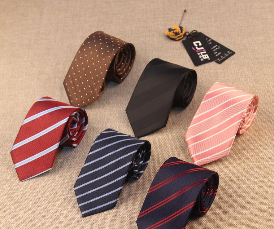 Men's Tie Formal Business Vestidos 7cm Fashion striped Tie Necktie College Style Tie Gift Costume Accessories Gravata Masculina-novahe