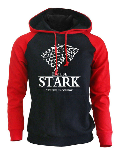 2018 Raglan Hoodies For Men House Stark The Song of Ice and Fire Winter Is Coming Men's Sportswear Game Of Thrones Sweatshirt-novahe