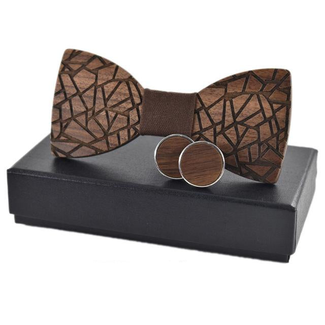 ZDJMEITRXDOOW 2018 New design Wood Bow Ties for Mens Wedding fissur Wooden Bow Tie Butterfly Shape Bowknots Gravatas Slim Cravat-novahe