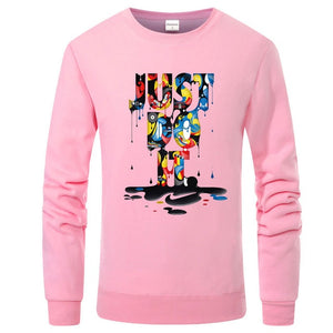 2017 autumn winter fashion hooded JUST DO IT 3D letter printing hoodies streetwear hip-hop tracksuits pullover sweatshirts-novahe