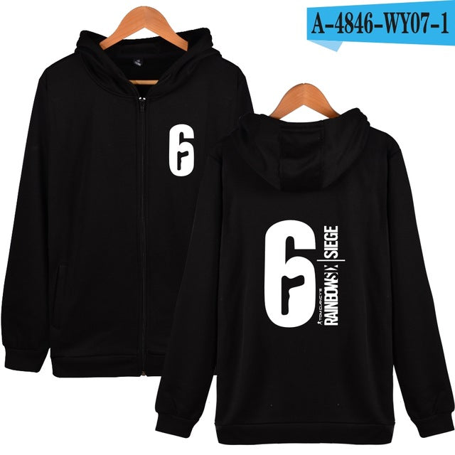 Rainbow six siege Hoodies and Sweatshirts Zip up Winter Warm Sweatshirts Coats Harajuku Hoody Sweatshirts Men Rainbow six siege-novahe