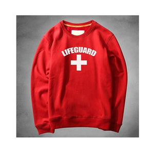 Autumn Winter Lifeguard Hoodies Men Long Sleeve Hoody Sweatshirts Women Red Life Guard Hooded Jumper Tracksuits Jacket Cardigan-novahe