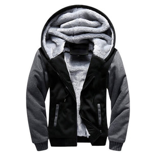 Hoodies Men Hooded Casual Wool Winter Thickened Warm Coat Male Velvet Male Sweatshirts Coat Zipper Cardigan Hoody Man Clothing-novahe