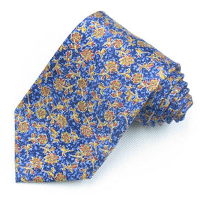 Flowers and birds printed silk tie 9cm wide necktie for men navy Fancy necktie for adult business ties gravata-novahe