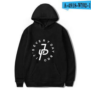Jake Paul Hoodies Men Women Unisex Hip Hop Hoodie Sweatshirt Black/White X Logo Pullover Hooded Sweatshirt Jake Paul-novahe