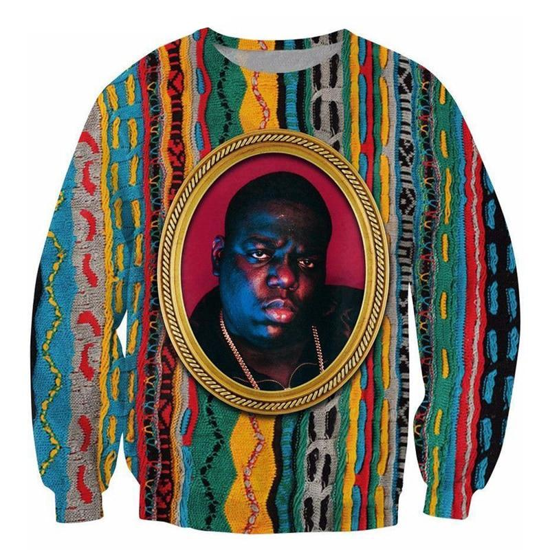 PLstar Cosmos Sweatshirt Notorious B.I.G. jumper Biggie Smalls Character print Sweats Fashion Clothing Women Men Pullover-novahe