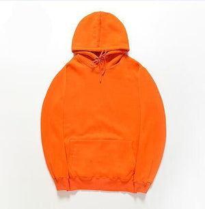 HZIJUE 2018 New brand Hoodie Streetwear Hip Hop orange red blue yellow Hooded Hoody Mens Hoodies and Sweatshirts Size M-XXL-novahe