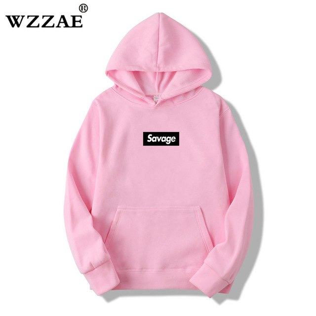 WZZAE 2018 New Mens Hoodies Savage Hoodies Parody No Heart X Savage Mode Slaughter Gang ATL Cotton Long Sleeved Hoodies Suprem-novahe