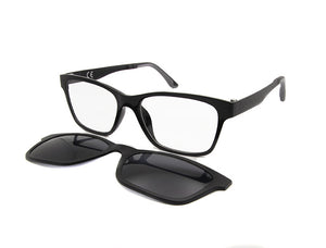 2266b28c19 ESNBIE New Memory Ultem Nerd Glasses Frame with Magnetic Clip on Polarized  Sun Glasses Lens Women