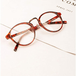 Men Women Nerd Glasses Clear Lens Eyewear Unisex Retro Eyeglasses Spectacles-novahe