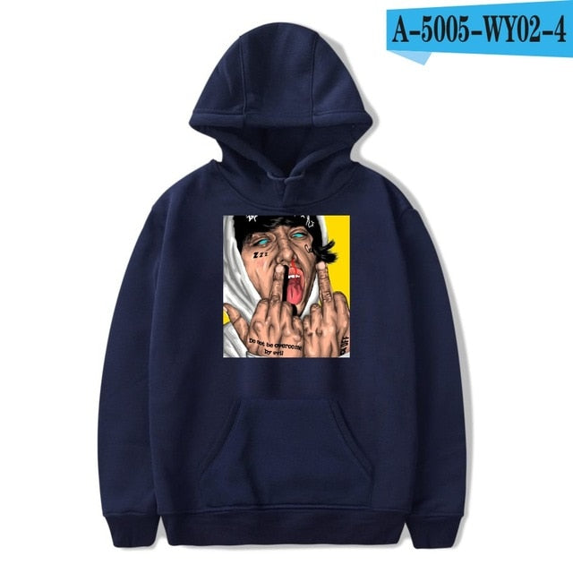 Lil xan Xanarchy Hoodies and Sweatshirts Autumn Hip Hop Mens Hoodies Pullover Harajuku Fashion Sweatshirts Lil xan Xanarchy-novahe