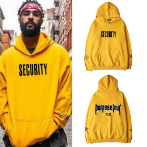 Spring Fashion Men Thick Hoodie Sweatshirt Letter Printed Loose Style Male Casual Tracksuit Long Sleeve Yellow Hooded Pullovers-novahe