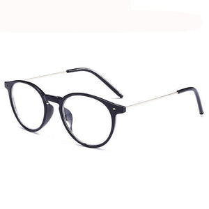 Finished Myopia Glasses Women Oval Steel Wire Legs Frame Clear Lens Sighted Prescription Glasses -1 -1.5 -2 -2.5 -3 -3.5 -4-novahe