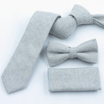 Wool texture 6cm light gray tie,men's Boutique Texture bow tie Matching pocket towel fashion slim gravata-novahe