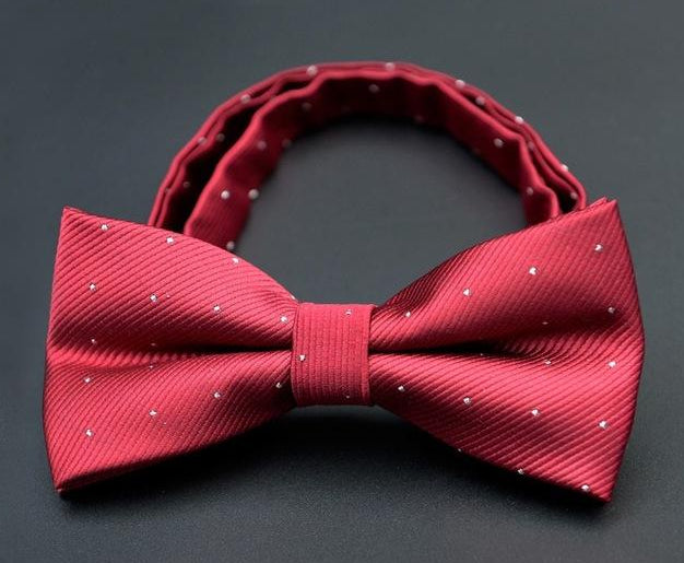 NiniRusi 2018 Fashion 1PC Gentleman Men Classic Satin Dot Bowtie Necktie For Wedding Party Adjustable Bow tie knot-novahe