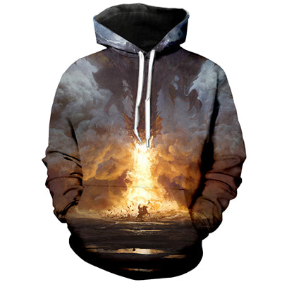 PLstar Cosmos 2018 new Fashion hoodies Psychedelic Trippy Visionary Hoodie Mayan Totem 3D Print Mens Womens hooded Sweatshirt-novahe