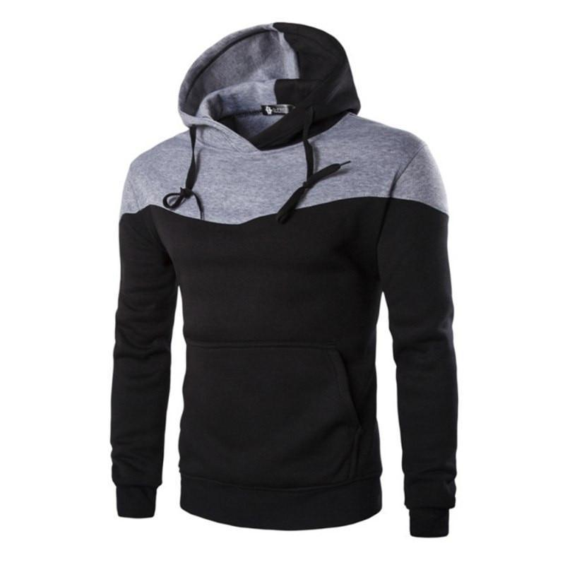 Fashion Winter Hoodies Men Sudaderas Hombre Hip Hop New Mens Hoodie Decorative Pocket Patchwork Sweatshirt#6128-novahe