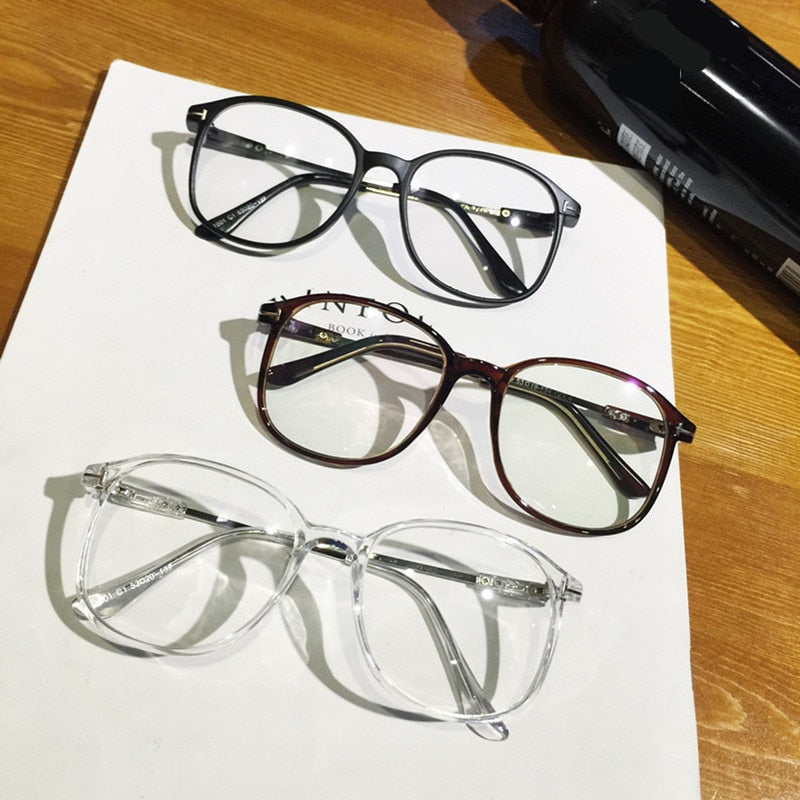 2017 Brand Design Vintage Big Oversized Frame Eyeglasses Women Men Computer Eye Glasses Optical spectacle Frame Oculos De Grau-novahe