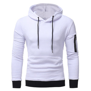 Tops 2017 Autumn Men's plaid dobby color Hoodies casual Pullovers Sweatshirt sleeved zippers Hoody sweatshirts clothes S-3XL-novahe