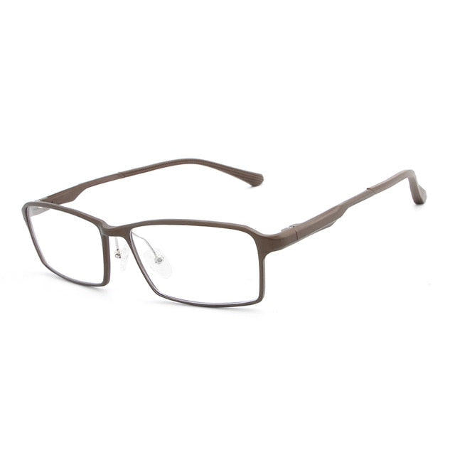 Aluminum Magnesium Spectacle Frame Simple Men Women Optical Glasses Frame With Clear Glass Brand Clear Transparent Eyewear Frame-novahe