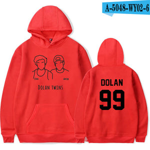 Dolan Twin Hoodies Warm Fleece Loose Printed Men Sweatshirts Fashion Pullover Mens tracksuit Sweatshirts Dolan Twin-novahe