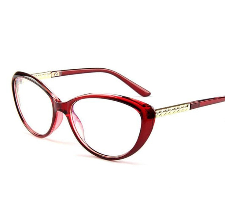 05f987df6bc Women s Glasses Frame Cat Eyes Eyeglasses Anti-fatigue Computer Optical  Frame Clear Glasses Prescription Eyewear