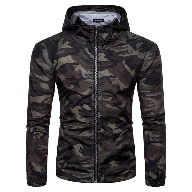 2018 Fashion Men's Camo Hoodie Casual Jacket Men's Sun Camouflage Long Sleeve Jacket Coats For Male Spring Europe Size-novahe