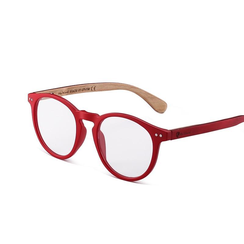 9df34f762111 Hu Wood 2018 Vintage Round Glasses Frame Women Men Ultra Light Clear  Glasses Optical Prescription Eyewear