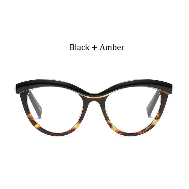 7c5c4f70d9c0 Retro Women Cat Eye Glasses Frame Brand Designer Cat Eye Frames Clear Lens Optical  Eyeglasses Frame