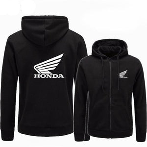 New men's cotton casual jersey, hip-hop style Honda printing men's sweatshirts, five colors to choose from.-novahe