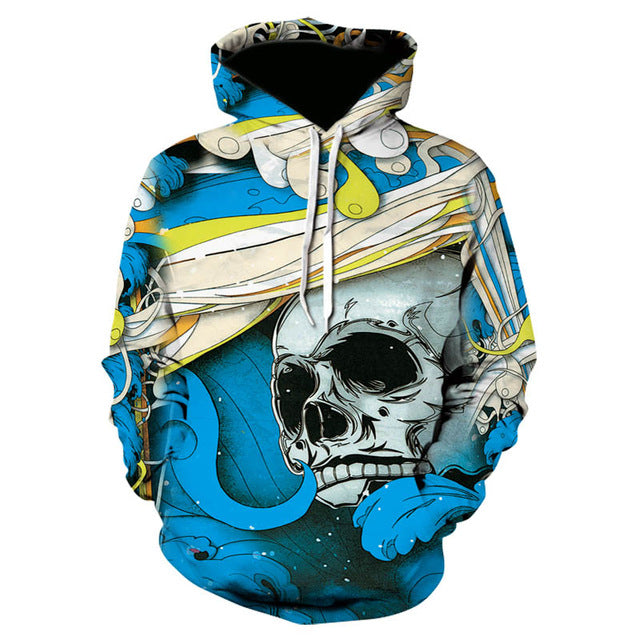 Skull headr Men Hoodies Sweatshirts 3D Printed Funny Hip HOP Hoodies Novelty Streetwear Hooded Autumn Jackets Mlae Tracksuits-novahe