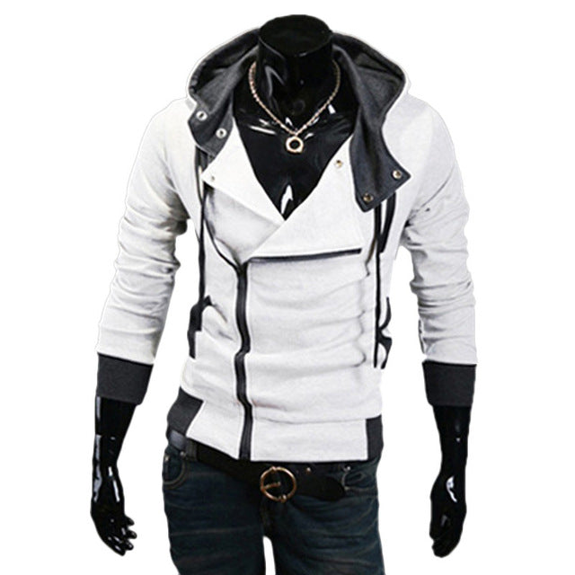 LeeLion 2018 Zipper Cardigan Hoodies Men Fashion Hooded Sweatshirts Spring Spring Sportswear Long Sleeve Slim Tracksuit Jacket-novahe