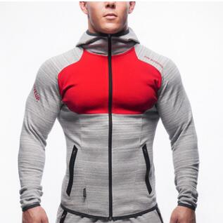 SJ 2017 Fitness Men Hoodies Brand Clothing Men Hoody Zipper Casual Sweatshirt Muscle Men's Slim Fit Hooded Jackets Size M-XXXL-novahe