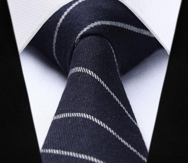 "Woven Classic Men Tie Necktie 6cm Soild Striped 2.36"" Cotton Ties for Men Wedding Party Slim Gravatas Corbatas-novahe"