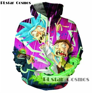 PLstar Cosmos rick and morty Hoodies brand Hooded Men/Women Hat 3d Sweatshirts Cartoon Print Autumn Hipster Sweatshirts-novahe