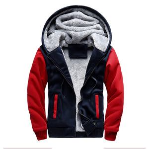 Fur Jacket Men 2018 Winter Bomber Jackets Male Hooded Coats Zipper Casual Thicken Hoodies Warm Tracksuit Fleece Fur Sportswears-novahe
