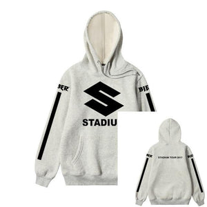2018 New Design JUSTIN BIEBER STADIUM TOUR 2018 Men Hoodies Hip Hop Fashion Casual Blacck Stripe Purpose Tour Sweatshirts S-XXL-novahe