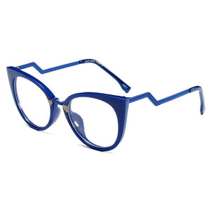 MOLNIYA 2018 Fashion Women Cat Eye Glasses Frame Retro Round Computer Blu Glasses Frame Luxury Female Optical Frame-novahe