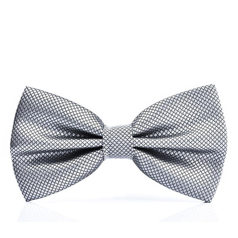15 Colors Solid Fashion Bowties Groom Men Colourful Plaid Cravat gravata Male Marriage Butterfly Wedding Bow ties-novahe