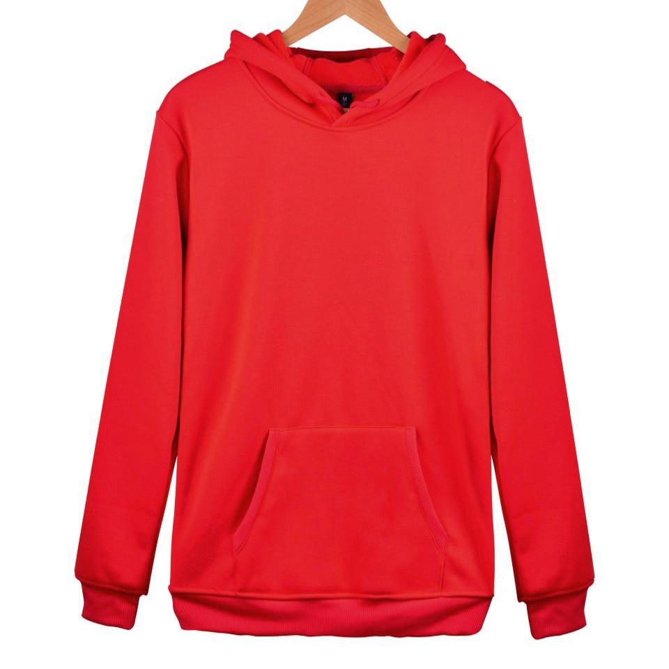 Aikooki 2018 Solid Color Hoodies And Sweatshirt Men Jumpers Women Pure Color Black Red Pink Cap Hoody Hooded Hoodie Polluvers-novahe