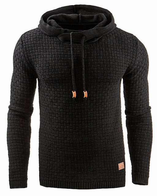 Hoodie Men Hoody Male Long Sleeve Solid Color Hooded Men's Sweatshirt Mens Hoodies Tracksuit Sweat Coat Casual moletom masculino-novahe