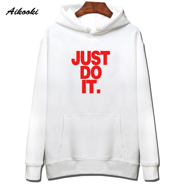 Aikooki New Just Do It Sweatshirt Hoodies Pullover Harajuku Men Cap Clothing Just Do It Hoodie Cotton Streetwear Fashion Design-novahe