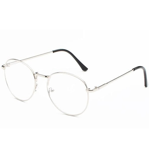 b5744d420b3 DOKLY Vintage Round Glasses Men Women s Glasses Metal black Frame Eyewear  vintage Female Optics Eyeglasses Clear
