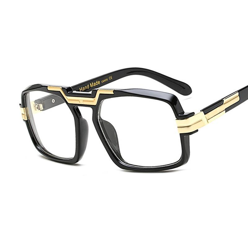 RSSELDN New Big Square Women Eyeglasses Brand Frames High Quality Black Clear Luxury Eye glasses Frame For Men UV400 Vintage-novahe